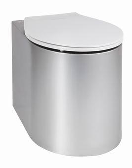 AUZ 02 Edelstahl-Toilette für die Installation auf dem Boden