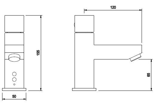 Schema - AUK 4.2 Automatische Waschtischbatterie